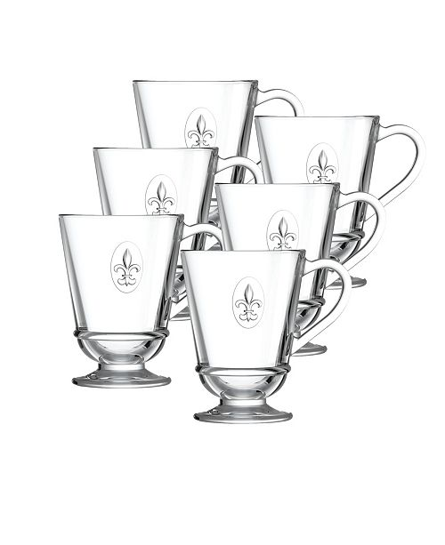 La Rochere La Rochere Fleur De Lys 9-ounce Coffee Cups, Set of 6