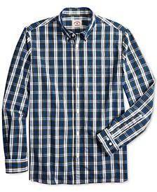 Men's Red Fleece Regular-Fit Oxford Plaid Shirt