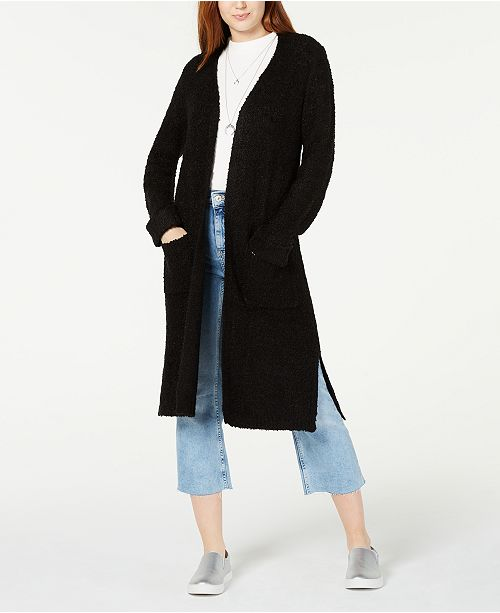 Hooked Up by IOT Juniors' Textured Duster Cardigan