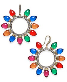 INC Gold-Tone Pavé & Multicolor Lightbulb Wreath Drop Earrings, Created For Macy's