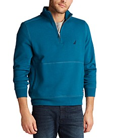 Men's Classic-Fit Quarter-Zip Fleece Sweatshirt