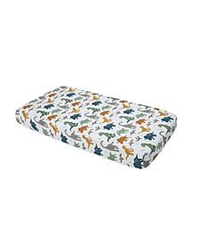 Dino Friends Cotton Muslin Crib Sheet
