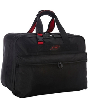 """Image of A. Saks 21"""" Double Expandable Soft Carry-On Black/Red - A. Saks Travel Duffels"""