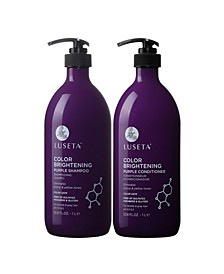Luseta Beauty Color Brightening Purple Shampoo & Conditioner Set 67.6 Ounces