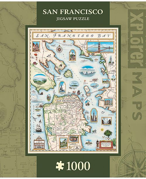 MasterPieces Puzzle Company Masterpieces San Francisco Bay 1000 Piece Xplorer Map Puzzle