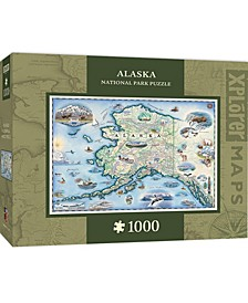 Masterpieces Alaska 1000 Piece Xplorer Map Jigsaw Puzzle