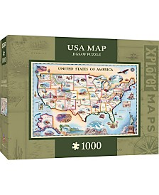 Masterpieces USA 1000 Piece Xplorer Map Puzzle