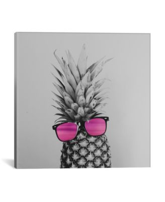"""Mrs. Pineapple by Chelsea Victoria Wrapped Canvas Print - 26"""" x 26"""""""