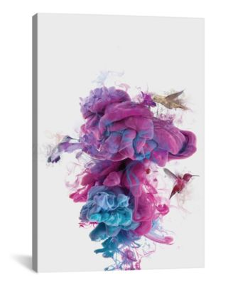 """Hummingbirds Ink by Dv°Niel Taylor Wrapped Canvas Print - 40"""" x 26"""""""