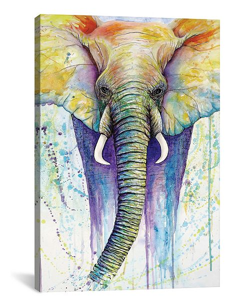 """iCanvas Elephant Colors by Michelle Faber Wrapped Canvas Print - 26"""" x 18"""""""