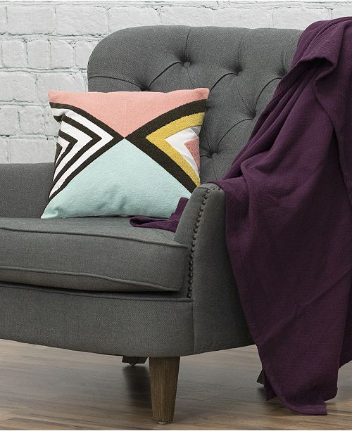 """eLuxury Abstract 18"""" Decorative Throw Pillow"""