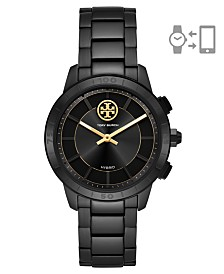 Tory Burch Women's Collins Black Stainless Steel Hybrid Smart Watch 38mm