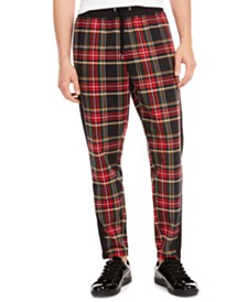 I.N.C. Men's Alerion Plaid Pants, Created for Macy's