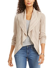 Style & Co Petite Pointelle Shawl-Collar Cardigan, Created For Macy's
