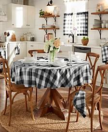 "Elrene Farmhouse Living Buffalo Check 70"" Round Tablecloth"
