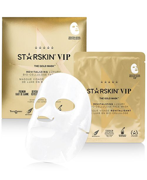 STARSKIN The Gold Mask Revitalizing Luxury Bio-Cellulose Face Mask