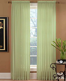 "Miller Curtains Sheer Preston Rod Pocket 51"" x 95"" Panel"