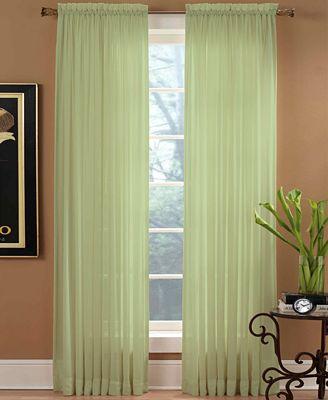 "miller curtains sheer preston rod pocket 51"" x 84"" panel - window"