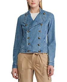 Lauren Ralph Lauren Crest-Buttoned Denim Officer's Jacket
