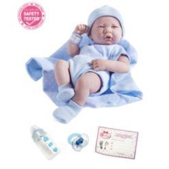 "La Newborn14"" Real Boy Baby Doll Blue Outfit"