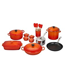 Le Creuset 20-Pc. Mixed Material Cookware Set