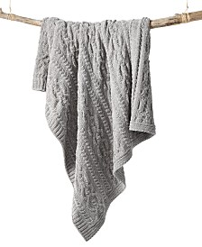Martha Stewart Collection Chenille Throw, Created For Macy's