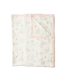Little Unicorn Pink Peony Deluxe Muslin Big Kid Quilt