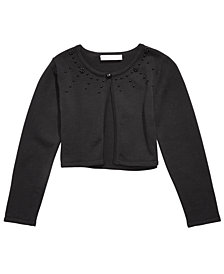 Bonnie Jean Little Girls Cotton Embellished Cardigan