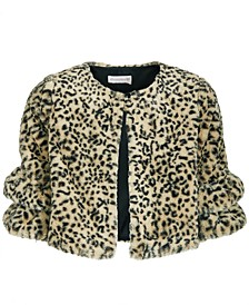 Big Girls Animal-Print Faux-Fur Jacket