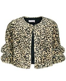 Big Girls Animal-Print Faux-Fur Jacket