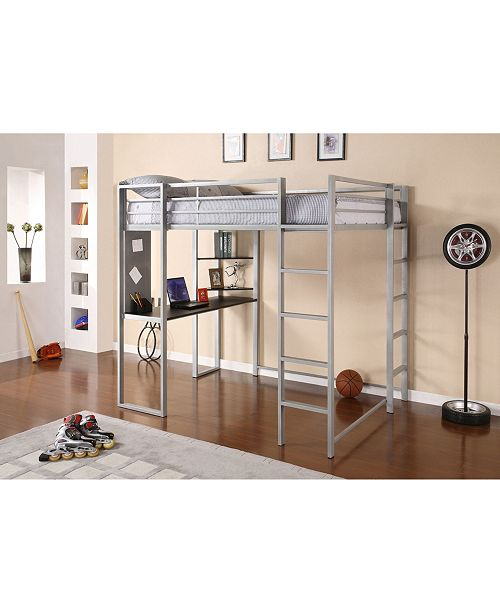 Alix Full Metal Loft Bed with Desk