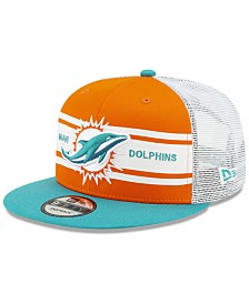 New Era Miami Dolphins Classic 77 Stripe Mesh 9FIFTY Cap