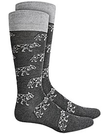 Men's Wolf Socks, Created for Macy's
