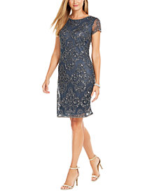 J Kara Embellished Sheath Dress
