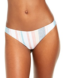 Juniors' Beach Classics Striped Bikini Bottoms