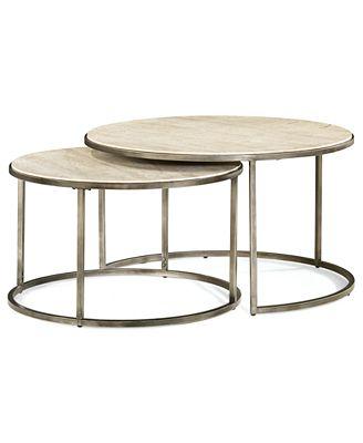 monterey coffee table, round nesting - furniture - macy's