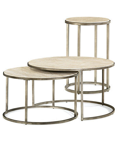 Monterey Round Tables 2 Piece Set Nesting Coffee Table And End Table
