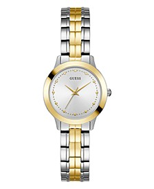 Women's Casual/Dress with Two Tone Detailing Stainless Steel Bracelet Watch 30mm case