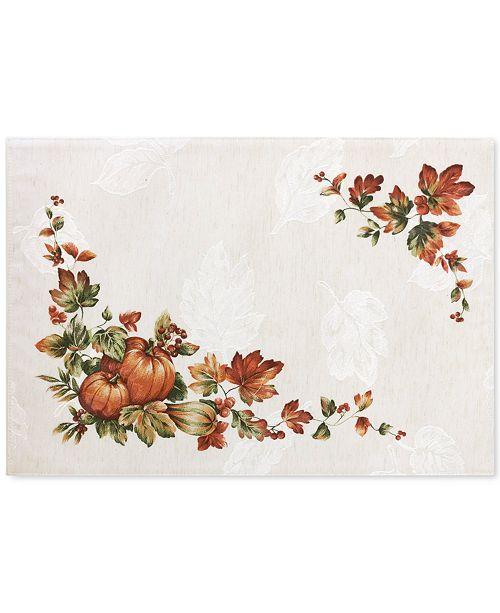 Bardwil CLOSEOUT! Fall Inspiration Rectangular Placemat