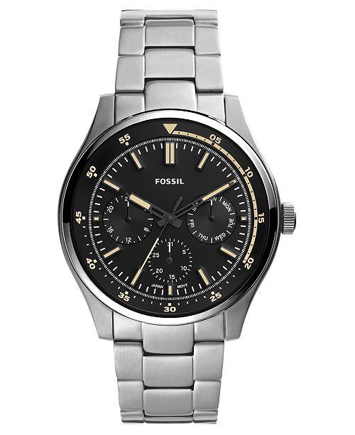 Fossil Men's Belmar Stainless Steel Bracelet Watch 44mm