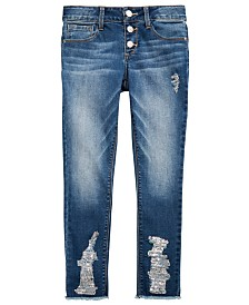 Vanilla Star Big Girls Ripped Frayed Jeans