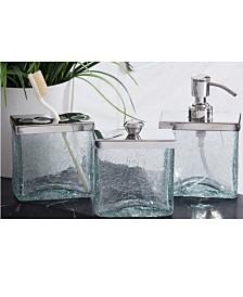 Roselli Trading Company Crackle Shiny Bath Accessories