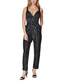 Laundry by Shelli Segal Animal-Print Jumpsuit