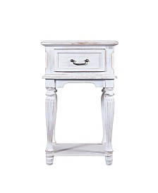 Luxen Home Small Wood End Table