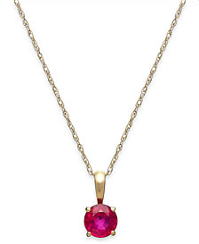 Ruby Pendant Necklace in 14k Gold (5/8 ct. t.w.)