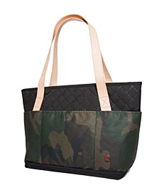 Quilted and Waxed Clinton Small Tote Bag