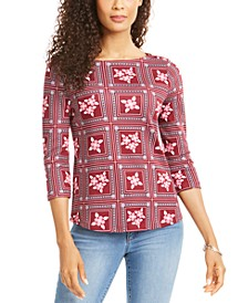 Tile-Print Top, Created for Macy's