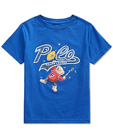 Little Boys Bee Bear Cotton Rugby Royal T-Shirt