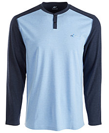 Attack Life by Greg Norman Men's Colorblocked Henley Shirt
