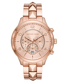 Women's Chronograph Runway Mercer Rose Gold-Tone Stainless Steel Bracelet Watch 44mm